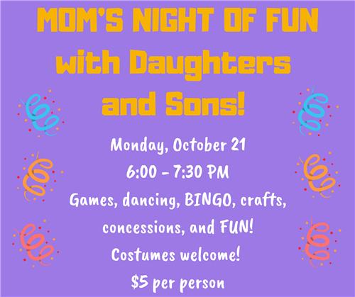 Mom's Night of Fun Flyer