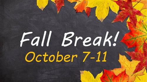 Fall Break Reminder Graphic