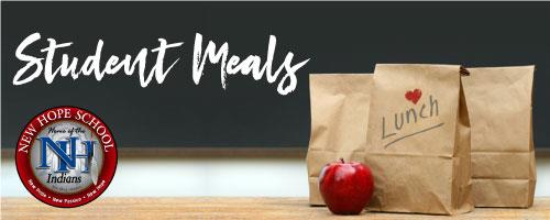 New Hope Elementary student meals graphic
