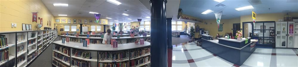 Panoramic image of the library
