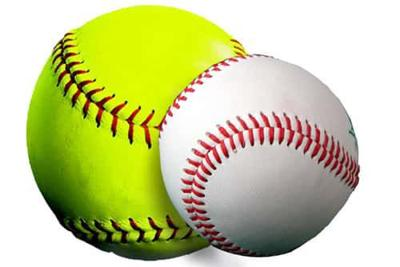 image of baseball and softball
